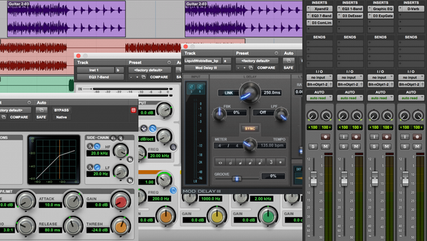 Pro Tools First Editor Mixer and Plug-Ins